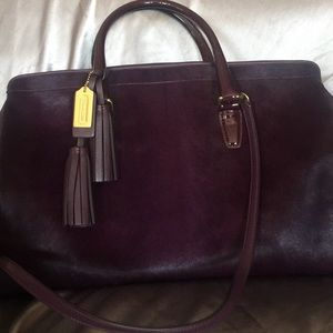 Calfskin coach purse
